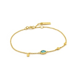 Ania Haie Armband Mineral Glow Turquoise Discs Gold