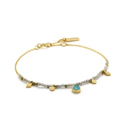 Ania Haie Armband Mineral Glow Turquoise Labradorite Gold