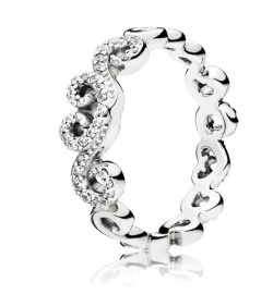 Pandora Ring Heart Swirls