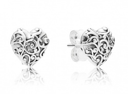 Pandora Ohrstecker Regal Hearts