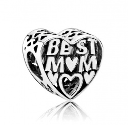 Pandora Charm Best Mom in Silber 925