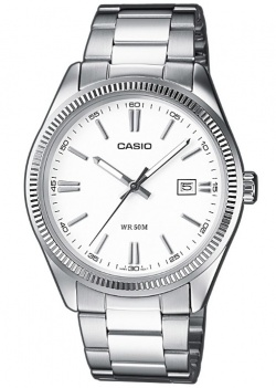 Casio Herrenarmbanduhr Roma L in weiss