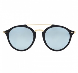Kapten & Son Fitzroy Matt Black Blue Mirrored