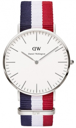 Daniel Wellington Herrenarmbanduhr Classic Cambridge Silber