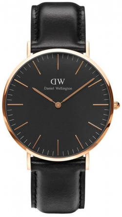 Daniel Wellington Herrenarmbanduhr Classic Black Sheffield Rosé