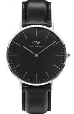 Daniel Wellington Herrenarmbanduhr Classic Black Sheffield Silbe