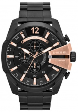 Diesel Mega Chief Black & Rose Gold