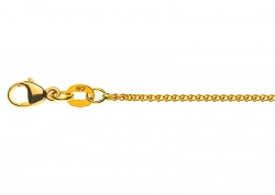 Collier Zopf in Gelbgold 585