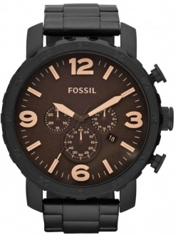 Fossil Herrenuhr Nate Chrono in braun