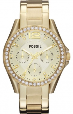 Fossil Riley Gold