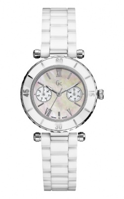 Guess Collection Damenuhr Driver Chic Weiss