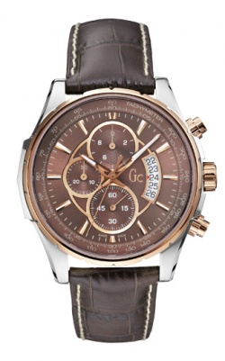 Guess Collection Herrenuhr Techno Class Braun
