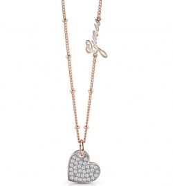 Guess Collier Pave Heart