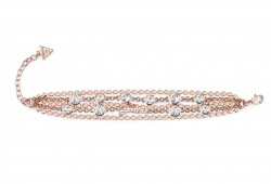 Guess Armband B-Multi Chain Rosé