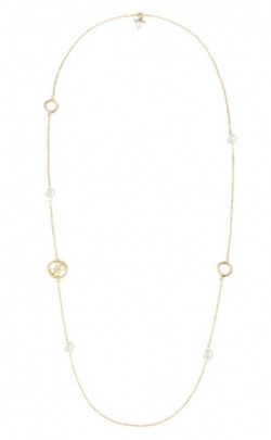 Guess Collier Iconic Pearls goldfarbig