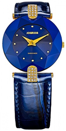 Jowissa Facet Strass Leder in blau M