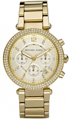 Michael Kors Parker Glitz-Top Chronograph Gold