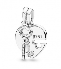 Pandora Anhänger Best Friends Heart & Key