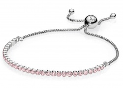 Pandora Armband Funkelndes Band Rosa in Silber 925