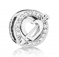 Pandora Clip Reflexions Asymmetric Heart & Arrow