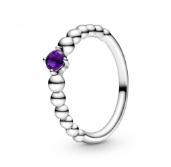 Pandora Ring Stackable Purple Beaded