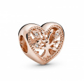 Pandora Charm Family Tree Heart Rosé