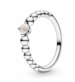 Pandora Ring Stackable Misty Rose Beaded