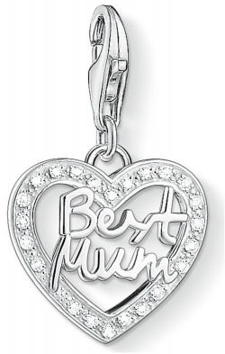 Thomas Sabo Charm Club Best Mum in Silber mit Zirkonias