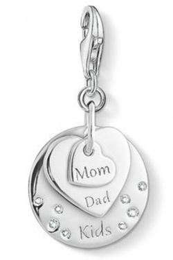 Thomas Sabo Charm Club Herzen Mom, Dad, Kids Silber