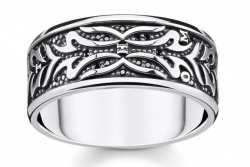 Thomas Sabo Ring Tiger Muster Schwarz