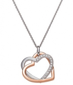 Viventy Forever Together Collier Silber Rhodiniert Bicolor