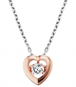 Julie Julsen Dancing Stone Collier Heart in Silber 925 Rosé