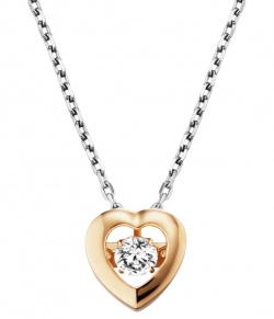Julie Julsen Dancing Stone Collier Heart in Silber 925 Vergoldet