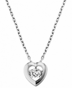 Julie Julsen Dancing Stone Collier Heart in Silber 925